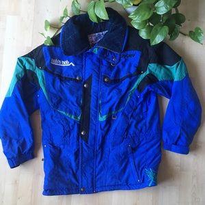 VINTAGE SPYDER Ski Winter Jacket Coat Blue L/XL